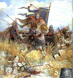 victoria de los rus sobre los teutones en la batalla del Lago Peipus (1242)
