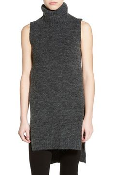 Dreamers by Debut Split Hem Sleeveless Turtleneck Tunic available at #Nordstrom