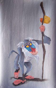 Rafiki by Billy Wallwork Lion King 3, The Lion King 1994, King Simba, Disney Lion King, Disney Concept Art, Disney Fan Art, Rafiki Costume, Fabric Painting, Watercolor Paintings