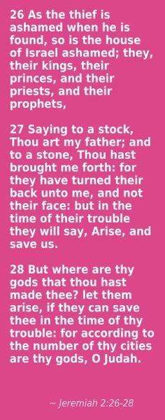 Jeremiah 2:26-28