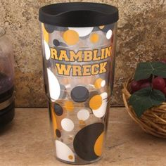 Quench your thirst and show off some gold and white. Try drinking and singing the fight song at the same time... this tumbler will help you remember this opening line! Keeps drinks hot or cold, depending on your beverage of choice.