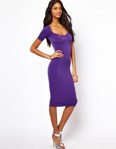 Oh My Love Midi Dress with Square Neck on shopstyle.com