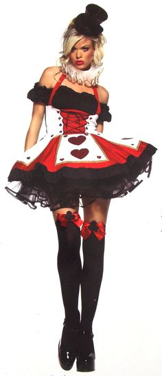 Leg Avenue Pretty Playing Card XS Alice Wonderland Sexy Halloween Costume 83409