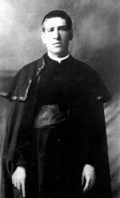 """St Toribio Romo González  was a Mexican martyr in the Cristero War.  Fr. Toribio finished his work at 4:00am on Feb 25, 1928 & decided to sleep a little. An hour later the government troops arrived & broke into the bedroom where Fr. Toribio was sleeping. A soldier said """"Here is the priest, kill him!"""" He said, """"Here I am, but do not kill me."""" One soldier fired,& Fr. Toribio rose from his bed & took a few steps until a second bullet caused him to fall into the arms of his sister..."""