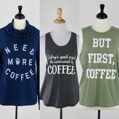 Monday morning mood - coffee! Shop all three styles on GoodTwice.com