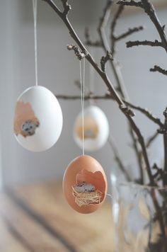 fr%C3%BChlingsdeko-basteln-eierschalen-ausgeblasene-eier-osterstrau%C3%9F Wunderbar Frühlingsdeko Basteln Heim und Möbel