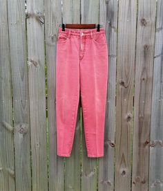 S M Small Medium Vintage 80s 90s Faded Red by PinkCheetahVintage, $24.99