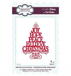 Sue Wilson Festive Collection Christmas Tree Greetings CED3017