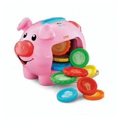 """Cole's FAVORITE right now. He is so proud when he gets the coins in the slot. This toy isn't super annoying or loud like some other """"talking toys""""."""