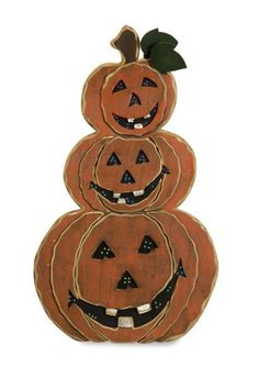 """The Friendly Standing Pumpkin has a warm smile and bright, festive LED lights. Made of wood, this Halloween character is sure to add a rustic touch to your Holiday decorations! Material: 100% Plywood. 20.5""""h x 17.5""""d."""