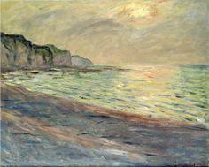 Pourville, Sunset - Claude Monet. Completion Date: 1882. Style: Impressionism. Genre: landscape.