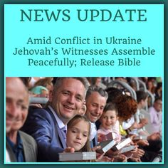 """As war escalated in eastern Ukraine, thousands gathered in Lviv for the """"Keep Seeking First God's Kingdom!"""" Convention. The revised New World Translation of the Holy Scriptures in Ukrainian was released. JW.org > Newsroom > News Update > """"Amid Conflict in Ukraine Jehovah's Witnesses Assemble Peacefully; Release Bible."""" ༺♥༻ JW.org has the Bible and bible based study aids in 700+ languages. These aids are designed to be used with your bible. ♥•.¸✧¸.•♥ Plus now: TV.JW.org"""