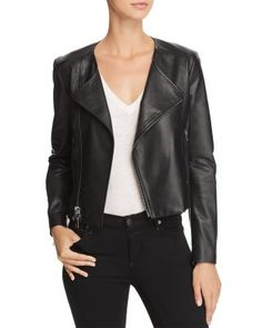 Layer on this faux leather moto jacket to add edge to any outfit.Fit: this style fits true to size. Attached belt at hem. length (size S). Jackets Online, Moto Jacket, Autumn Winter Fashion, Jackets For Women, My Style, Long Sleeve, Sleeves, Shopping, Clothes