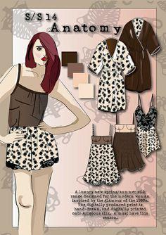 Natural Lingerie industrial board - my fashion designs - fashion portfolio