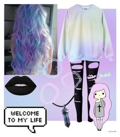 """Pastel Hair"" by weird-kitten on Polyvore featuring WithChic and Lime Crime"