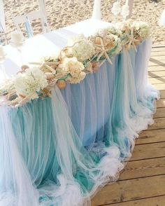 Sea wedding can be gentle and airy!]]] # ostrosablina_dekor # wedding in the bride Beach Wedding Centerpieces, Beach Wedding Reception, Beach Wedding Favors, Nautical Wedding, Wedding Reception Decorations, Wedding Themes, Trendy Wedding, Our Wedding, Dream Wedding