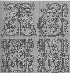 (1) Gallery.ru / Foto # 1 - Alfabet Priv - natalytretyak alphabet monogram cross stitch