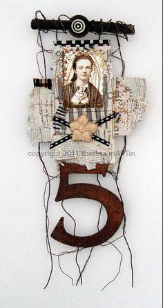 Invallers: Starten in het nieuwe jaar? 5* wensen/dromen (*Niet iedereen heeft er 5 natuurlijk.) Mixed Media Collage Ik vind de 'hanger' van ijzerdraad erg origineel én handig.