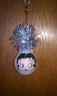 lightbulb crafts   Betty Boop keepsake light bulb ornament by chris903 on Etsy