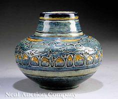Newcomb College Art Pottery high-glaze vase, ca. 1905