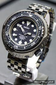 Clemiko Timepiece Online: SEIKO SBDX011 改裝DLC 64鈦合金外殼 + 五格黑鋼帶 + 64鈦合金螺絲 Seiko Skx007 Mod, Seiko Mod, Cool Watches, Watches For Men, Seiko Marinemaster, Pitbull, Seiko Watches, Automatic Watch, Luxury Watches