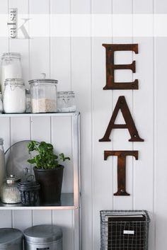 Little Emma English Home: Kitchen. Want those letters
