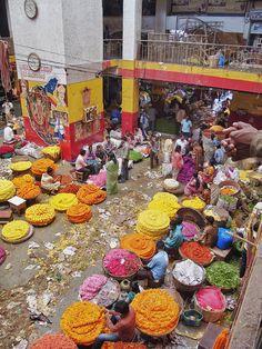 Flower Market - Bangalore, Karnataka, India