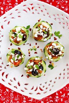 Mediterranean Cucumber Cup Appetizers