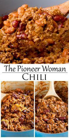 Chili Recipes, Meat Recipes, Mexican Food Recipes, Chicken Recipes, Cooking Recipes, Healthy Recipes, Chili Recipe Stovetop, Ethnic Recipes, Easy Chili Recipe