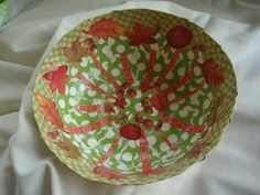 Autumn Medium Papier Mache Bowl Autumn by ContainedHappiness