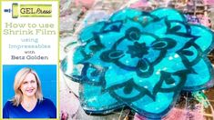How To Use Shrink Film with an Impressable Shrink Film, Shrink Art, Gel Press, Gelli Arts, Gelli Printing, Mark Making, Being Used, Kids Learning, Stencils