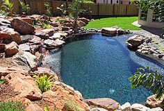 Natural Oasis Look Swimming Pools By Placid Pools