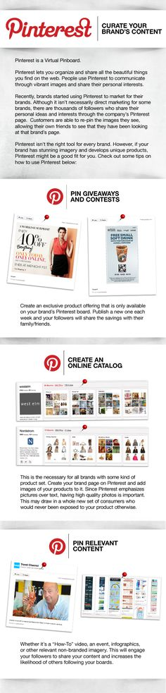 Curating content on Pinterest