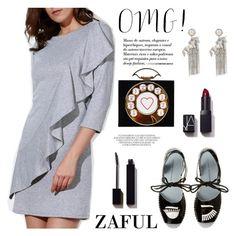 """ZAFUL/ http://www.zaful.com/?lkid=8297"" by helenevlacho ❤ liked on Polyvore featuring Chiara Ferragni, NARS Cosmetics, Serge Lutens and zaful"