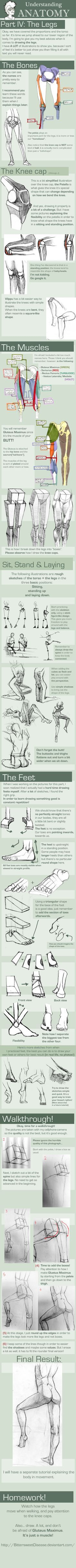 UNDERSTANDING ANATOMY: part IV The legs by =FOERVRAENGD on deviantART #drawing #legs #tutorial
