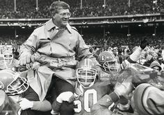 Broncos coach Dan Reeves is carried from the field as his team won the AFC Championship.