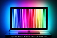 Adhesive LED Strip Converts Monitor Into High Resolution Screen