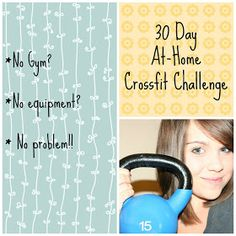 "Momma Crossfitter: 30 Day At-Home Crossfit Challenge. ""be stronger than your strongest excuse"". crossfit motivation inspiration workout cardio WOD HIIT tabata burpees suck Nike Just Do It Crossfit Challenge, Wods Crossfit, Crossfit At Home, Kettlebell Challenge, Challenge Ideas, Workout Challenge, Fitness Diet, Fitness Motivation, Health Fitness"
