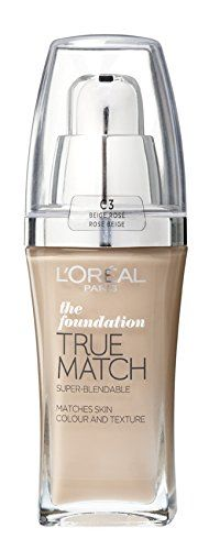From 6.98 L'oreal Paris True Match Foundation - 30 Ml Rose Beige 30ml (number C3)