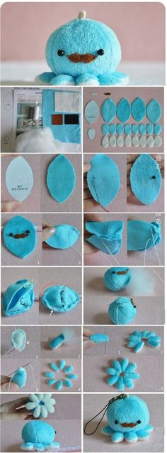 Tutorials to Make Cute Small Stuffed Animals. gift sewing Tutorials to Make Cute Small Stuffed Animals: 50 Examples Cute Crafts, Felt Crafts, Diy And Crafts, Arts And Crafts, Cute Diys, Summer Crafts, Kid Crafts, Creative Crafts, Sewing Hacks