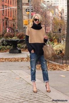 Подборка образов со свитером