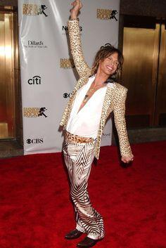 Steven Tyler at the Fashion Rocks Concert, 2007. via @WWD leopard prints