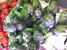 artichokes from the covered market, Antibes, France.