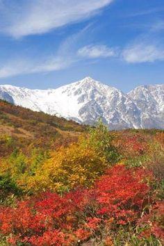 """日本の秋「北アルプスと八方尾根」""""Happo-One and the Northern Alps"""" Fall of Japan"""