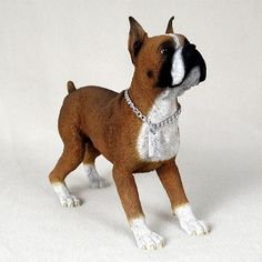 Boxer Statue Figure. Home Yard & Garden Decor Dog Breed Pet Products & Dog Gifts