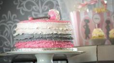 Pink Silhouette Baby Shower - #Babyshower Cake -  Bella Paris Designs