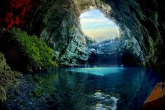 Melissani Cave is a Greek cave located on the island of Kefalonia Melissani t