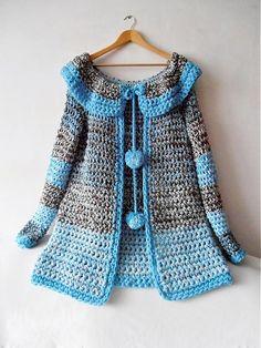crochet sweater       ♪ ♪ ... #inspiration_crochet #diy GB