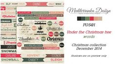 Under the Christmas tree (Words) by Mediterranka Design