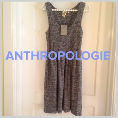 """""""Annie's Studying Anthropology""""NWT dress Score an """"A"""" when you wear this brand new dress from Anthropologie!! Perfect for warm weather. Navy and white knitted 100% cotton fabric. Has 2 side pockets. Slips over the head. Throw on some sandals and you're out the door and stylin'!!! Under arm to hem is 28 inches. Anthropologie Dresses"""